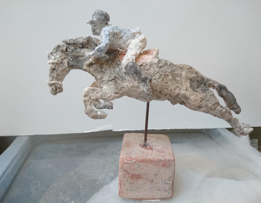 Skulptur inspirerad av Peder Fredricson på All In vid OS i Rio de Janeiro 2016.