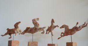 Flygande Hästar (Terracotta)
